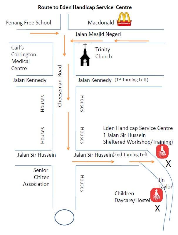 Eden Training Map Location